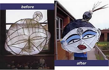 willow masks before and after