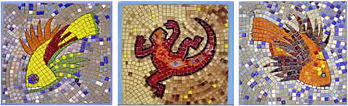 mosaics with animal designs