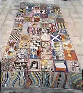giant mosaic carpet