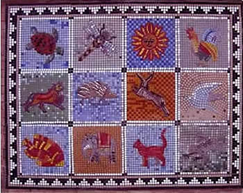 mosaic floor with animal designs