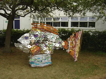 recycled fish sculpture photo